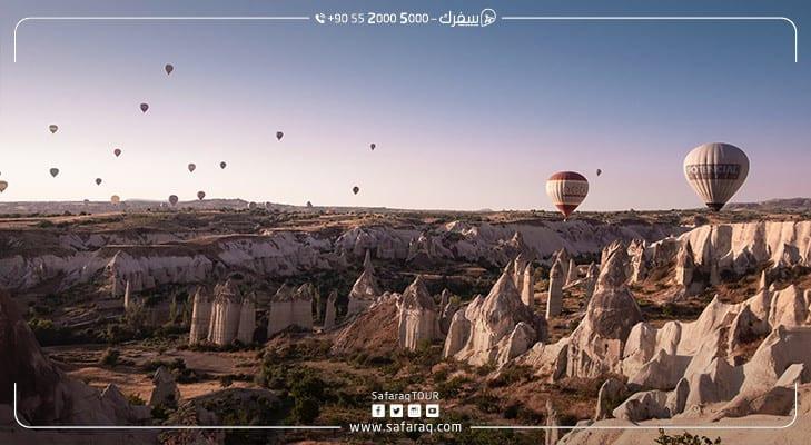 ازدياد عدد السياح الوافدين على كابادوكيا تركيا بنسبة 85%