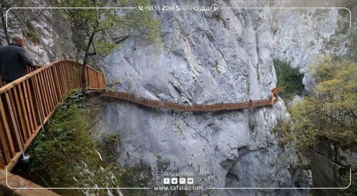 افتتاح جسر خشبي معلق في تركيا