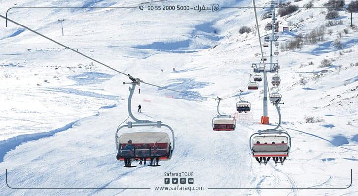 جبل يلدز: متعة التزلج