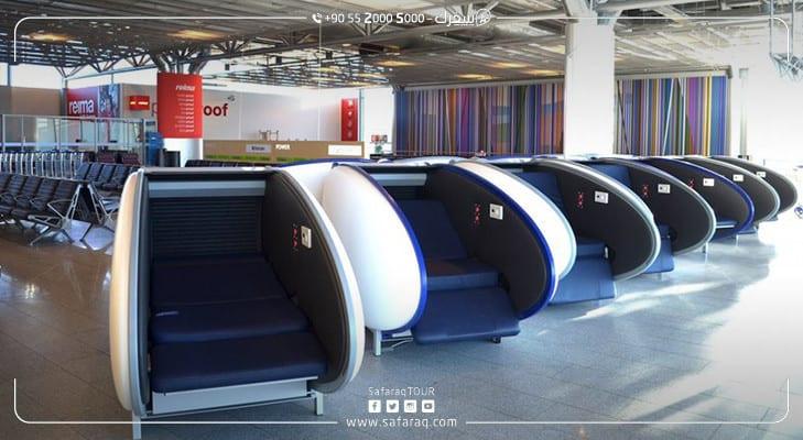 كبسولات النوم في مطار إسطنبول