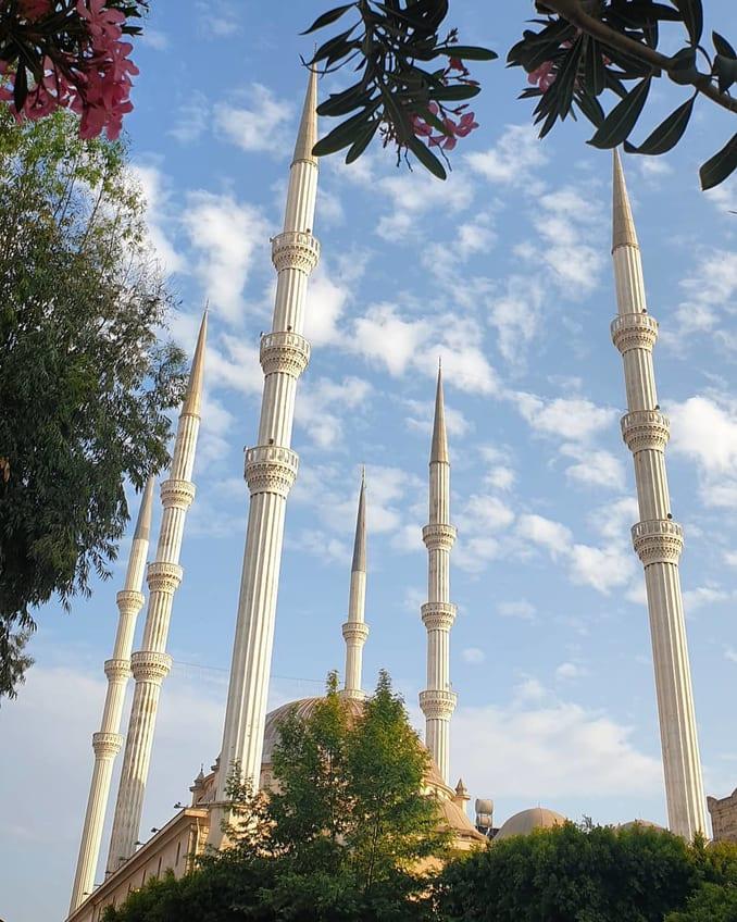 The six minarets of Mugdat Mosque