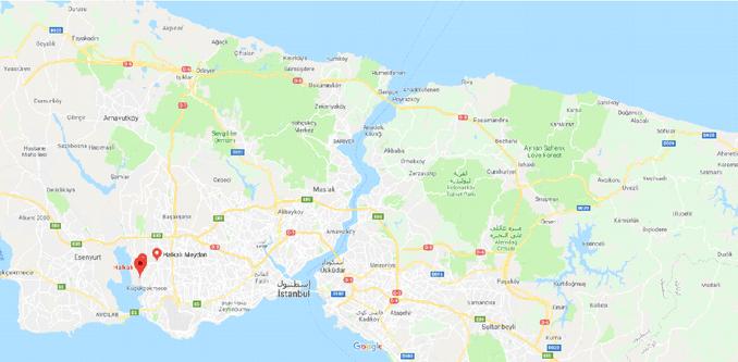 Halkali Map in Istanbul