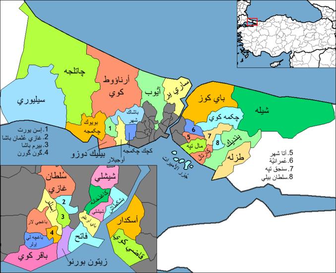 خريطة شيشلي اسطنبول بالعربي