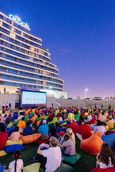 Outdoor Cinema in Akbati