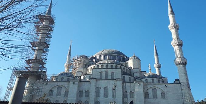 الجامع الازرق في تركيا
