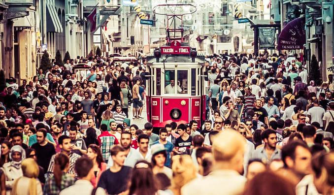 Istiklal Street in Taksim