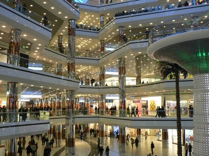 Shops in Cevahir Mall Istanbul