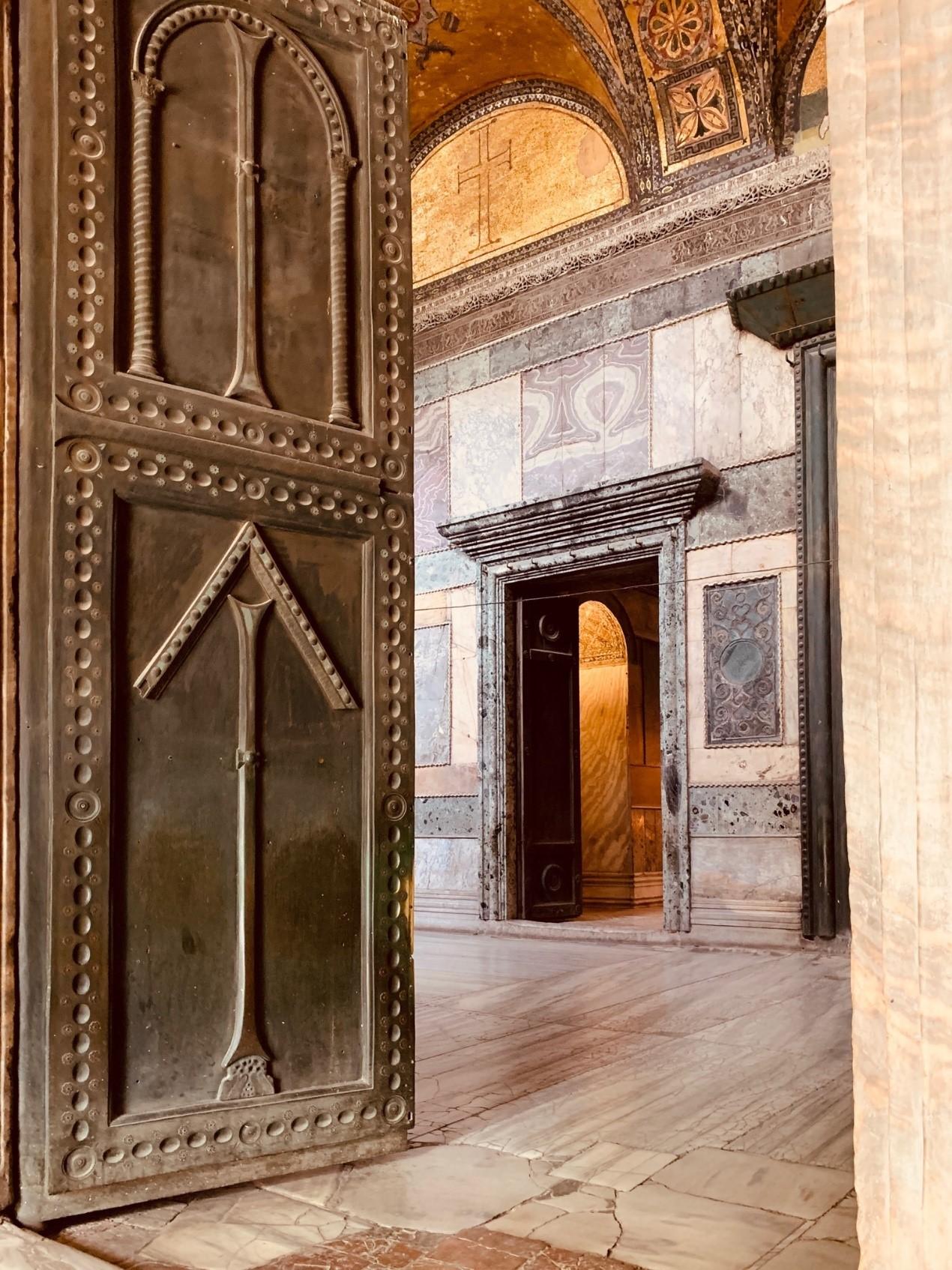 Halls Surrounding Hagia Sophia and Doors