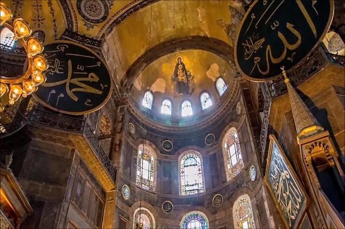 Hagia Sophia's Main Hall Ceiling from Inside
