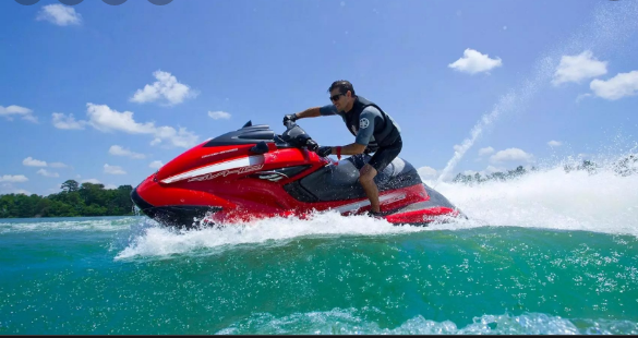 التزلج على الماء في جزر المالديف