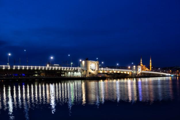 Galata bridge by night