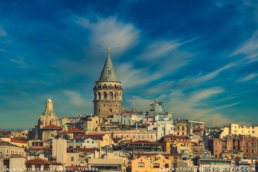 موقع برج غلطة في اسطنبول